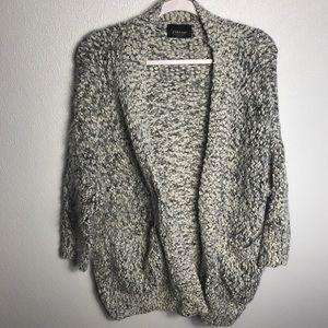 Zara Knit Chunky Cardigan Sweater Sz Small